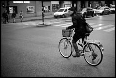 Stockholm biker (Micke Borg) Tags: 20˚ 9min 125 rodinal wideopen 14 50mm ltm canon fp4 ilford m4 leica vasagatan sverige sweden stockholm