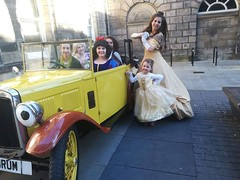 Treasure Hunt in Lancaster (Elysia in Wonderland) Tags: lancaster treasure hunt rapunzel elysia marvellous events bid shopping centre disney princess costume cosplay brum car belle moana snow white tinkerbell