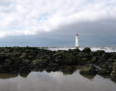 Perch Rock Lighthouse, New Brighton (Tony Worrall) Tags: architecture lighthouse scenic scene serene landscape wirral newbrighton wet water sea seashore rocks rocky weather clouds grim shoreline uk gb english british county north northern northwest location area visit tall light color buy sell sale bought item stock ilobsterit instagram beauty itsgrimupnorth building