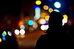 Colors of the night (shresthaanup477) Tags: bokeh round balls colorful colors artistic art night light turku finland street car lights silhouette samyang135mm nikon d600