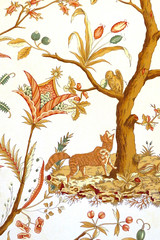 Le corbeau et le renard (Catherine Reznitchenko) Tags: détail animal tapisserie fable jeandelafontaine corbeau renard arbre plante végétation saintpierredemanneville manoirdevillers fleurs intérieur indoors detail raven fox tree littérature literature couleurs colors france normandie normandy oiseau bird dessin drawing illustration art decoration craft decorative tapestry furniture catherinereznitchenko
