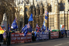 Brexit Protestors (ChiralJon) Tags: london westminster kingdom united europe eu gb european union demonstrators protest protestors photography news politics brexit jack londen londres londra londyn лондон 西敏寺 вестминстер ロンドン новости 新闻 nieuws wiadomości nouvelles noticias unión europea européenne