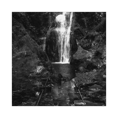 the falls (Bernie Vander Wal) Tags: yashicamatem shanghaigp3 doubleexposure