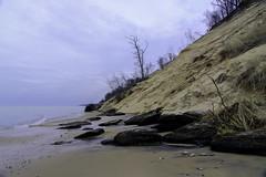 Crumbling Dunes (Tom Gill.) Tags: beach dune sanddune michigan lakemichigan lake greatlakes vanburen statepark