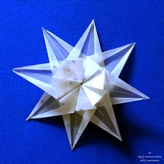 Star (Zsuzsanna Kricskovics) Kopie (AnkaAlex) Tags: origami origamistar modularorigami paperfolding whitestar translucentpaper