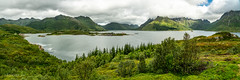 Panorama on Austnesfjorden (Norway) (christian.rey) Tags: austnesfjorden norway lofoten islands sildpollneset vestpollen panorama sony a7r2 a7rii 24105 fjord mountains green pointofview landscape