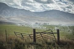 Broken Gate (Brad Prudhon) Tags: 2018 fishlakenationalforest october siever utah irrigate irrigation field mountains fence gate