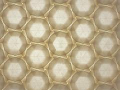 Dodecagons (back-lit) (Michał Kosmulski) Tags: origami tessellation dodecagon backlit backlight transparent translucent michałkosmulski thaiunryupaper white cream