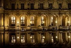 Le Louvre (Fabdub) Tags: pyramidedulouvre summilux leica night urbanexploration uban paris nightshot leicaq lelouvre muséedulouvre reflection architecture