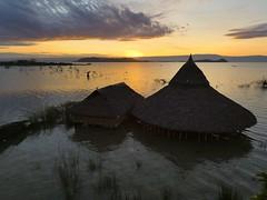 Sunrise on Baringo lake (Linda DV) Tags: sunrise lindadevolder africa 2018 lumix travel geotagged nature kenya fauna people baringo