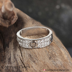 Natural Diamond Pave Wedding Band Ring Solid 14k White Gold Handmade Jewelry (couturechics.facebook1) Tags: natural diamond pave wedding band ring solid 14k white gold handmade jewelry