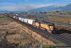Heading Home (jamesbelmont) Tags: railroad railway train locomotive unionpacific ypv51 lakotajunction utah orem switcher emd sw10 sd40 drgw riogrande