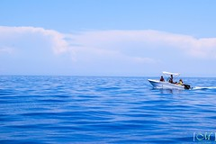Out at sea (mollygreen2016) Tags: sea ocean water travel blue boat summer greece nikon nikkor beautiful seascape landscape minimalism minimal outside waves national beach art light sun clouds sky new