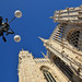 Cathedral with surveillance (Thomas Roland) Tags: surveillance camera lamp sky himmel blue blå history historical stone wall europe travel efterår autumn herbst 2018 nikon d7000 europa city by milan milano cathedral katedral duomo church kirche kike building tourists tourism italy italia italien façade