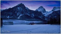 Dämmerung in der Polsterlucke (Karl Glinsner) Tags: österreich austria oberösterreich upperaustria winter outdoors gebirge mountains schnee snow hinterstoder polsterlucke dämmerung dusk bluehour blauestunde totesgebirge