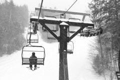 Uncrowded (brucetopher) Tags: ski skiiing board boarding vacation holiday mountain mountains whitemountains snow snowing storm weather cold winter black white blackandwhite bw blackwhite monochrome mono bnw