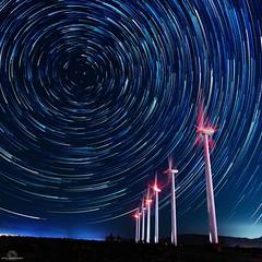Wind Power (philbeckman56) Tags: startrails starstax astrophotography nightsky windturbines nature longexposure