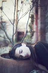 Sleeping beauty (bernadetakupiec) Tags: atmosphere mood sigma naturallight people outdoor skin face autumn canon fall portrait vintage woman