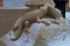 Lizard sculpture (Maximus Viridius) Tags: sony a7 bratislava mirrorless 2870mm travel europe full frame slovakia street
