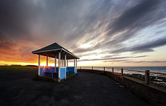 Fisheye Sunset (JennTurner) Tags: opteka 65mm fisheye canon westgate kent coastal seaside shelter sunsest evening sky clouds