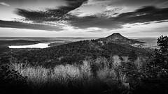 Pinnacle Mountain and Lake Maumelle from Rattlesnake Ridge (issafly) Tags: arkansas bw blackwhite blackandwhite monochromatic landscape pinnaclemountain nikond5100 nikkor1855mm 1855mm nikon
