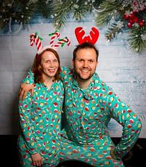 smile! (ekelly80) Tags: dc washingtondc december2018 evans holidayparty party christmas onesies meundies sushi costumes reindeer portrait