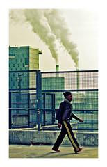 paysage industriel (Marie Hacene) Tags: paris 13e ivry cheminée usine street