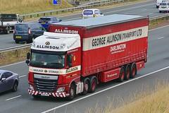 NX66 HND (Martin's Online Photography) Tags: daf xf truck wagon lorry vehicle a1m fairburn northyorkshire nikon nikond7200