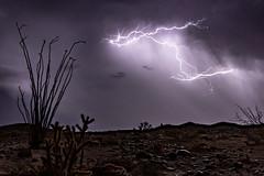 1.21 Gigawatts - Anza-Borrego Desert - October 12, 2018. Take 2. (slworking2) Tags: julian california unitedstates us thunderstorm lightning storm stormy weather anzaborrego anzaborregodesertstatepark sweeney pass desert sky clouds night