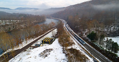 Amtrak Aerials (benpsut) Tags: 30 amtk206 amtk822 amtrak30 amtrakcapitollimited csx csxkeystonesub capitollimited confluence dji djiphantom4pro p030 aerial drone moody passenger phantom phantom4pro photo photography railroad snow trains winter pennsylvania unitedstates us