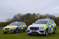 Volvo ARVs (S11 AUN) Tags: lincolnshire police volvo xc90 d5 powerpulse 4x4 xc70 anpr armed response vehicle arv traffic car roads policing unit rpu 999 emergency emopss eastmidlandsoperationalsupportservices fx67bju kn66obu