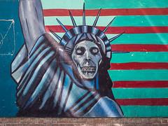 Former US embassy, Tehran (TeunJanssen) Tags: embassy us unitedstates statueofliberty mural tehran iran travel traveling worldtravel backpacking olympus omd omdem10 revolution streetart