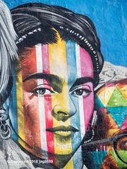 """Frida Kahlo"" Detail of ""Mount Rushmore"" Mural (2018) by Eduardo Kobra, Chelsea, New York City (jag9889) Tags: 10av 10ave 10thavenue 2018 20181203 andywarhol architecture artist brazil building chelsea color detail diner eduardokobra empirediner face frida fridakahlo graffiti house kahlo keithharing kobra manhattan mexican monumental mountrushmore mural muralist ny nyc newyork newyorkcity outdoor painter painting portrait streetart streetartist tagging tenthavenue usa unitedstates unitedstatesofamerica wall jag9889"