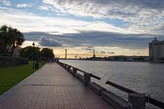 Savannah, Georgia Sunset (coltonmundt@sbcglobal.net) Tags: sunset savannah georgia ksav riverwalk deepsouth south photography ga bridge clouds