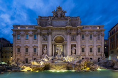 Trevi (JH Images.co.uk) Tags: rome trevi clouds water fountain architecture night hdr dri statue building italy statues waterfeature illuminated illumination