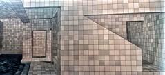 Pintura em azulejos portugueses (jakza - Jaque Zattera) Tags: pintura arte azulejos azul geometrico quadrados piscina linha