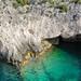 Porto Limnionas cave Zakynthos, Greece aerial