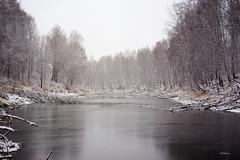 Autumn lake (PhGra_f) Tags: canoneos6d canon 6d carlzeissjenamcpancolar lake autumn snow birch russia siberia omskregion