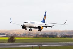 TF-ICY, Boeing 737-8 MAX of Icelandair. (David James Clelford Photography) Tags: tficy boeing7378max icelandair landing 25l brusselsnationalairport aircraft airplane airliner airport aeroplane jet jetliner 737 boeing 7378max ebbr bru