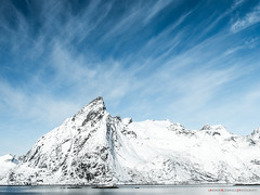 Land and Air (Andrew Bloomfield Photography) Tags: lofoten islands andrewbloomfieldphotography landscape norway outdoor winter wwwandrewbloomfieldphotographycouk mountain sky snow