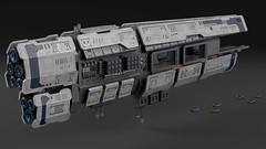 Nurikabe Class Carrier (noblebun) Tags: lego spaceship homeworld space render fighter blender