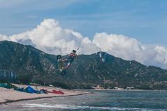 in a jump (Strukovsky) Tags: jump sky backgroungs clouds man blue ocean kitesurfing