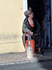 Lisbon shopkeeper (ashabot) Tags: 2018 portugal people lisbon streetscenes streetphotography citylife europe lightandshadow peopleoftheworld afternoon
