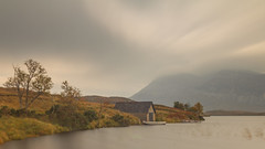 Loch Stack Boathouse (RichRobson) Tags: nc500 loch lochstack scotland boathouse peaceful tranquil landscape mountain trees autumnal windy water sky