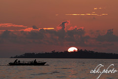 Sunset over Gangga Island (chk.photo) Tags: indonesien nature sulawesi indonesia naturewatcher natur ocean naturemasterclass outdoor night landscape sunset light clouds water