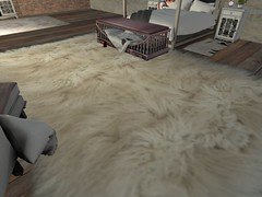 SRI White Fluffy Fur Rug (Sarge Red Industries) Tags: fapple fapplesecondlife rug fur furrug bedroom fluffy soft white sri sargeredindustries secondlife sl ds bdsm cage bed