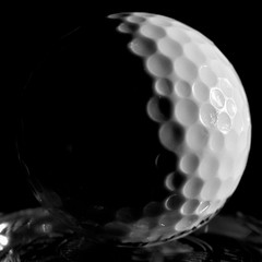 Lunar Eclipse (roanfourie) Tags: lunareclipse macro lowlight day spring nikon d3400 nikkor afp 1855mm f3556 g vr dx raw gimp november 2018 kitlens golf ball black white bnw blackandwhite square anotherkindofmoon olddays macromondays centersquarebw