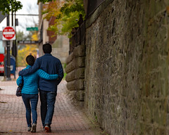 Couple Walking on High Street (Corey Templeton) Tags: autumn city fall highstreet maine newengland people portland portlandmaine sidewalk unitedstates us