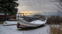 Frozen in Time (Paul Domsten) Tags: lakesuperior minnesota pentax hovland chicago bay chicagobay boats fishing sunrays lake northshore