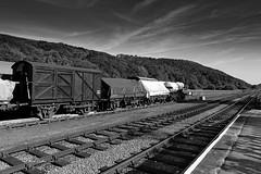 Old Goods Wagons, Levisham, North Yorkshire Moors (markalfa83) Tags: oldgoodswagons levisham northyorkshiremoors railway nymr blackandwhite monochrome british rail station canoneos6dmarkii